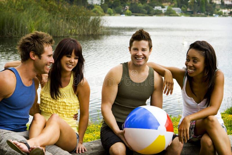 Lago friends fotografia de stock
