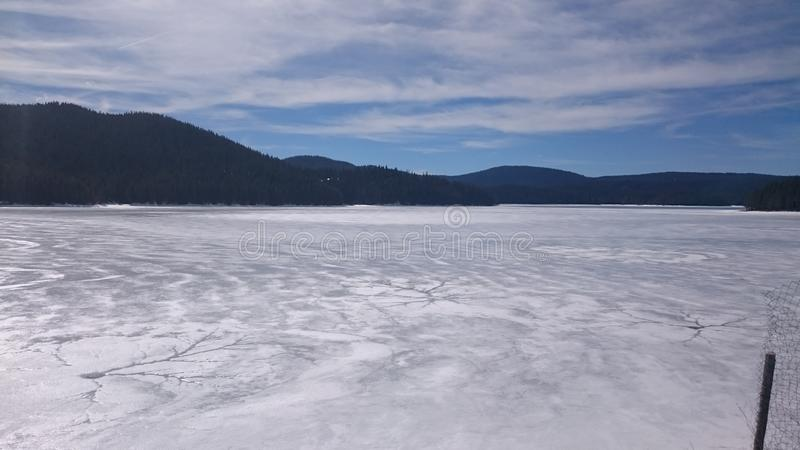 Lago frost imagem de stock royalty free