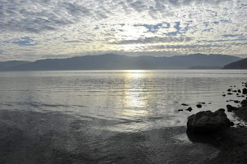 Lago Fuxian, China foto de stock royalty free