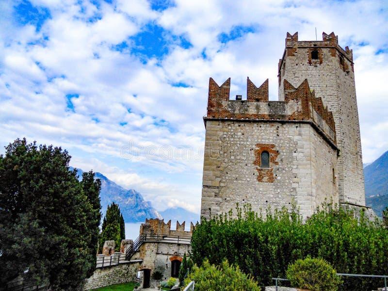 Lago Garda, Italia de Castello Scaligero, Malcesine imagen de archivo libre de regalías