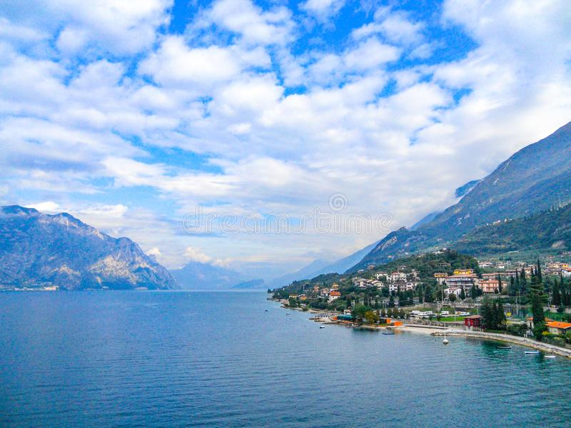 Lago Garda, Italia de Malcesine foto de archivo libre de regalías