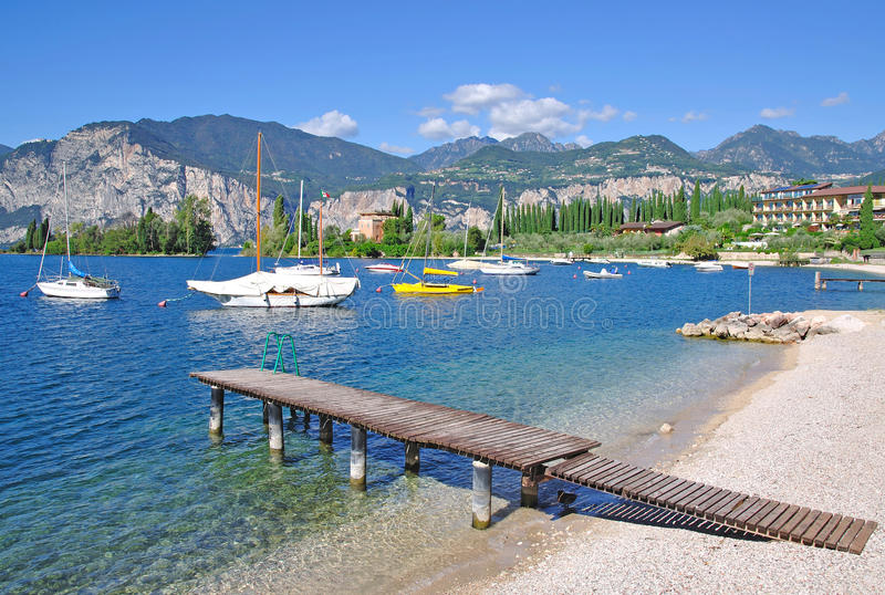 Lago Garda, Malcesine, Italia fotos de archivo