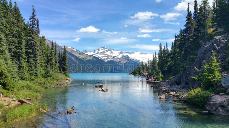 Lago Garibaldi imagenes de archivo