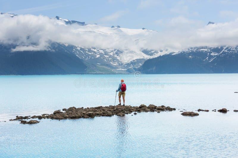 Lago Garibaldi fotos de archivo