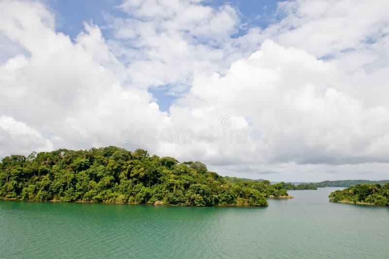 Lago Gatun del canale di Panama fotografia stock