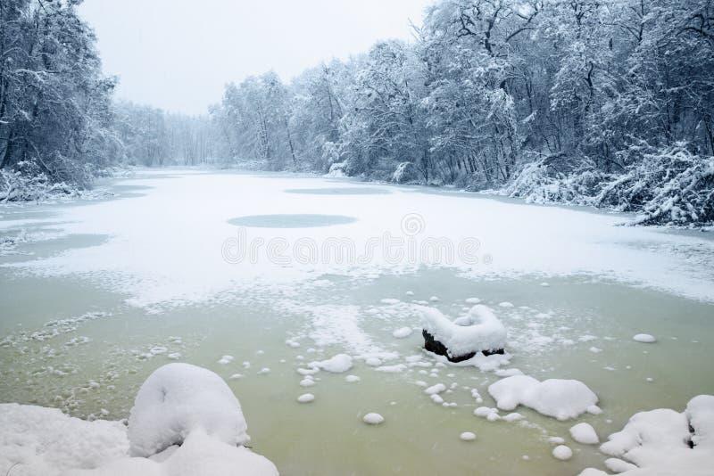 Lago gelado imagens de stock royalty free
