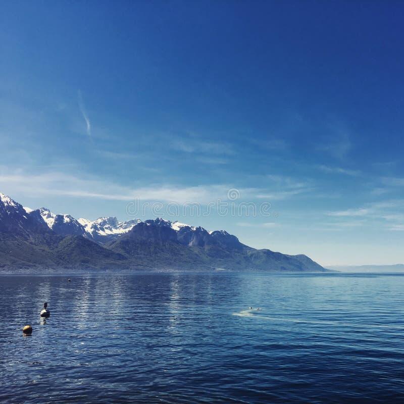 Lago Genebra imagens de stock