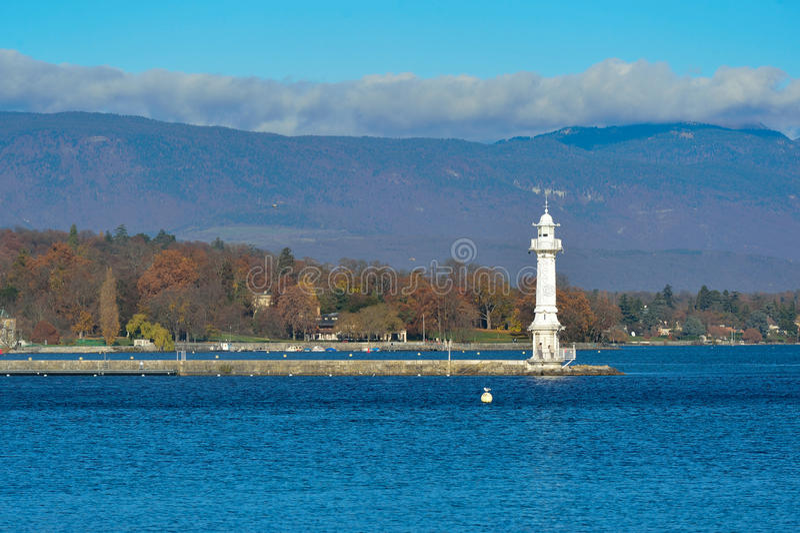 Lago Genebra fotografia de stock