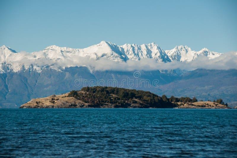 Lago General Carrera, Carretera Austral, Landstraße 7, Chile stockfotografie