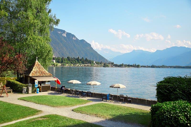 Lago geneva, Suiza imagen de archivo libre de regalías