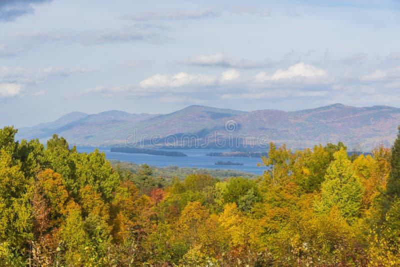 Lago George Scenic View fotografia de stock royalty free
