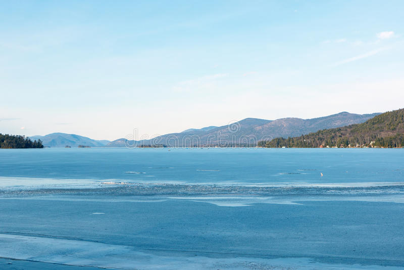 Lago George Winter imagenes de archivo