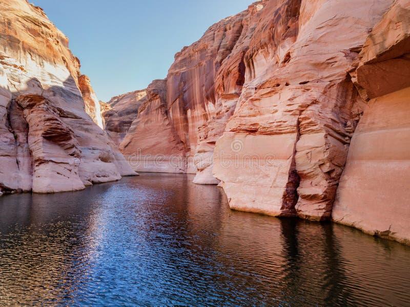Lago girante Powell alla pagina U.S.A. fotografia stock