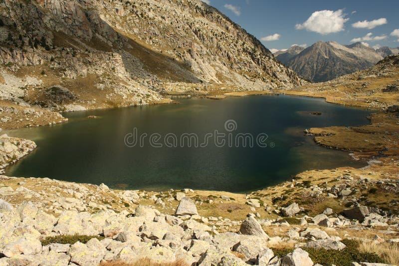 Lago glaciale in parco naturale di Posets-Maladeta immagine stock libera da diritti