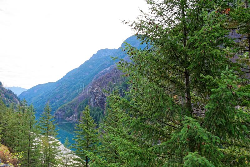 Lago gorge, parque nacional das cascatas nortes imagem de stock