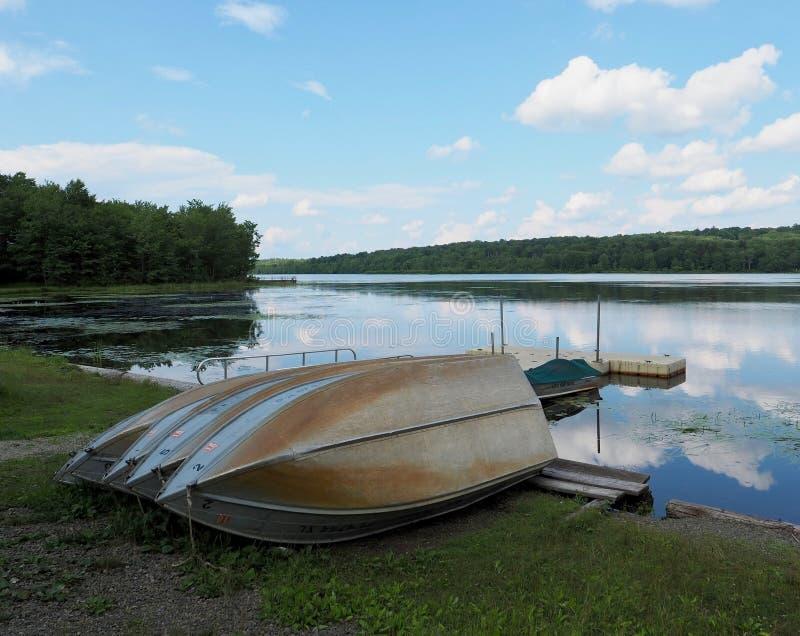 Lago Gouldsboro en las monta?as de Pocono foto de archivo