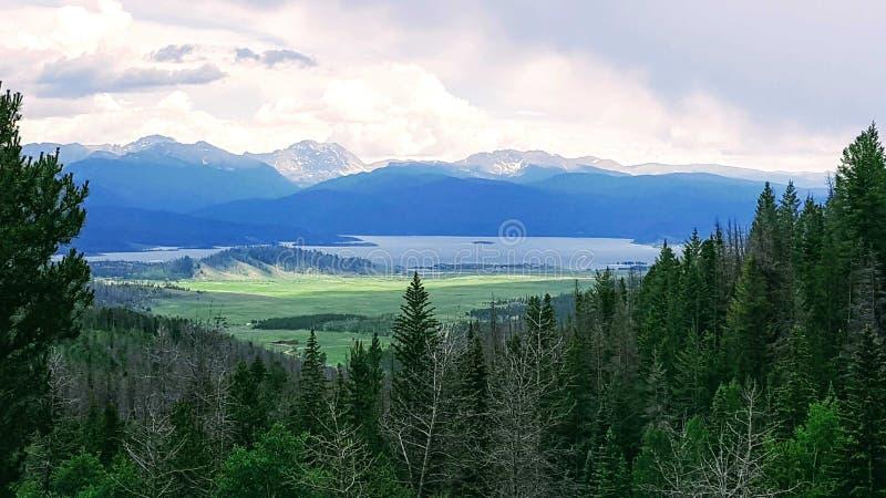 Lago grande, Granby foto de stock royalty free