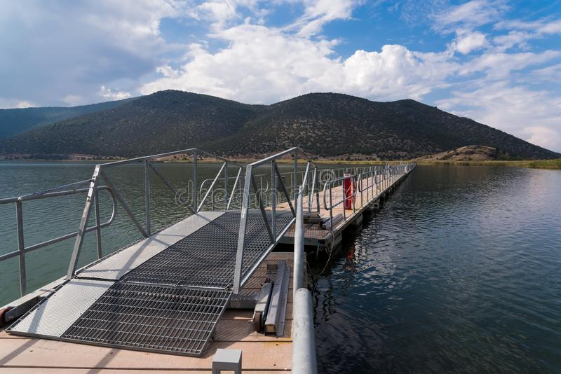 Lago in Grecia fotografie stock libere da diritti