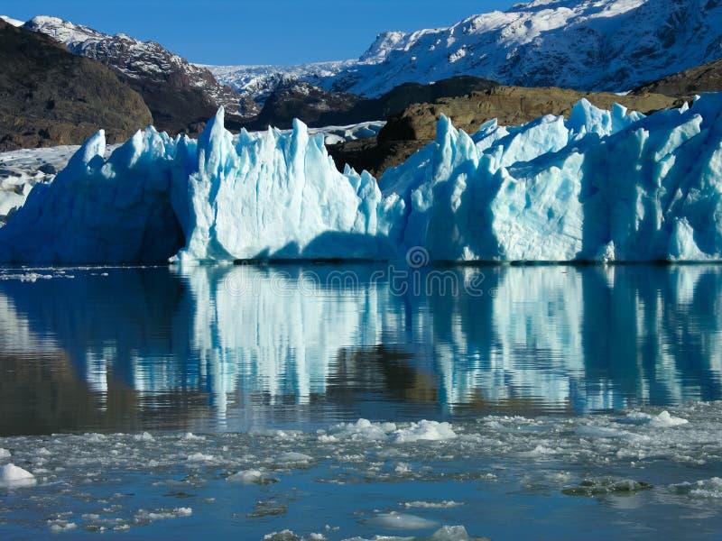 Lago Grey in Torres del Paine stock photo