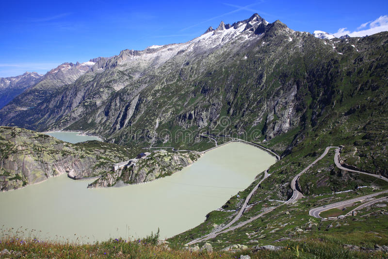 Lago Grimsel immagine stock