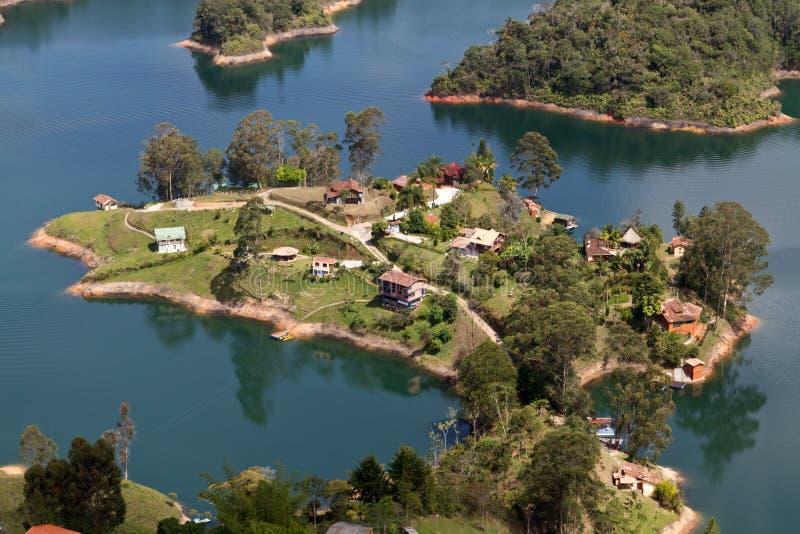 Lago Guatape, Colombia fotografía de archivo