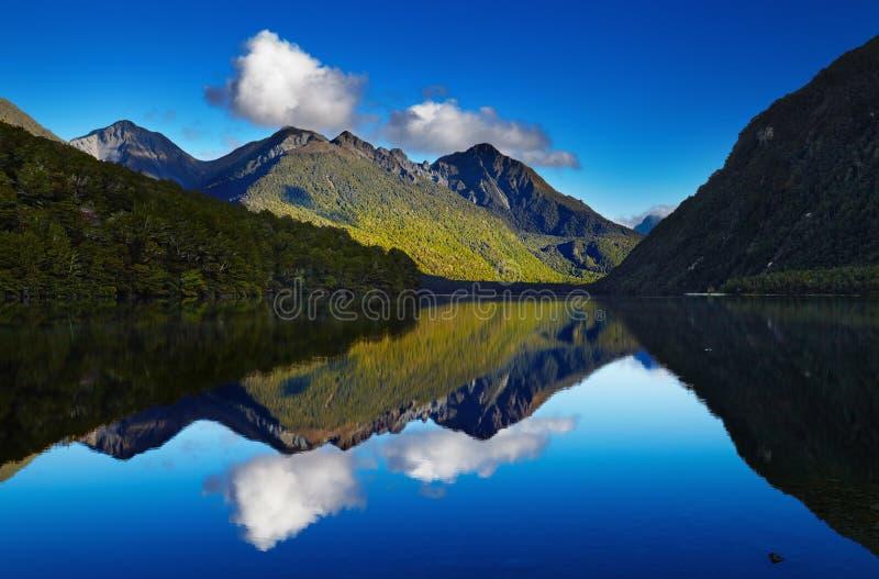 Lago Gunn, Nueva Zelanda fotografía de archivo libre de regalías