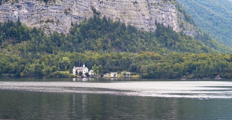 Lago Hallstatt, Austria fotografia stock