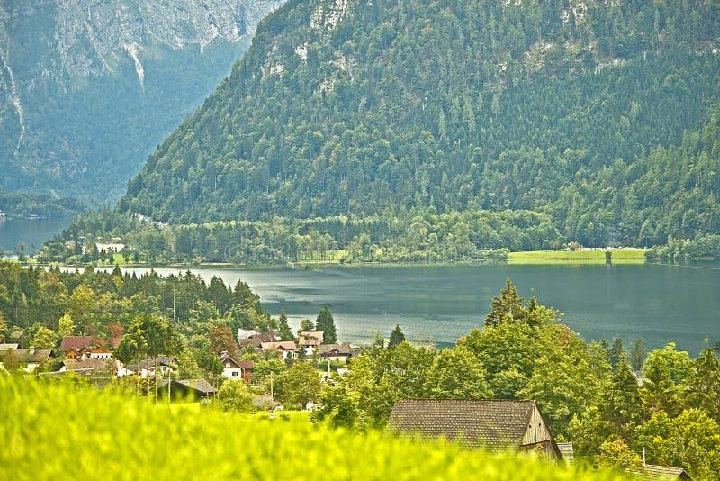 Lago Hallstatter, Austria fotografie stock