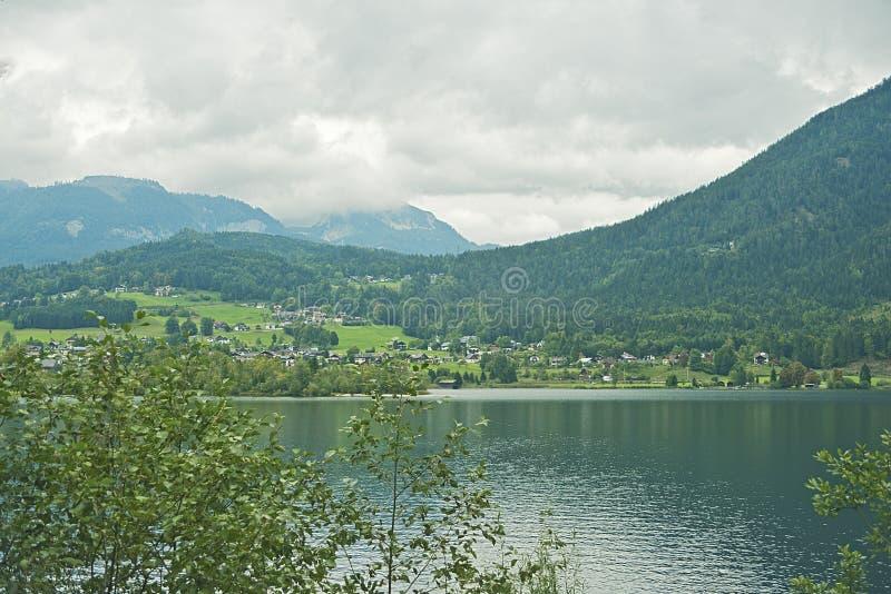 Lago Hallstatter, Austria fotografia stock libera da diritti