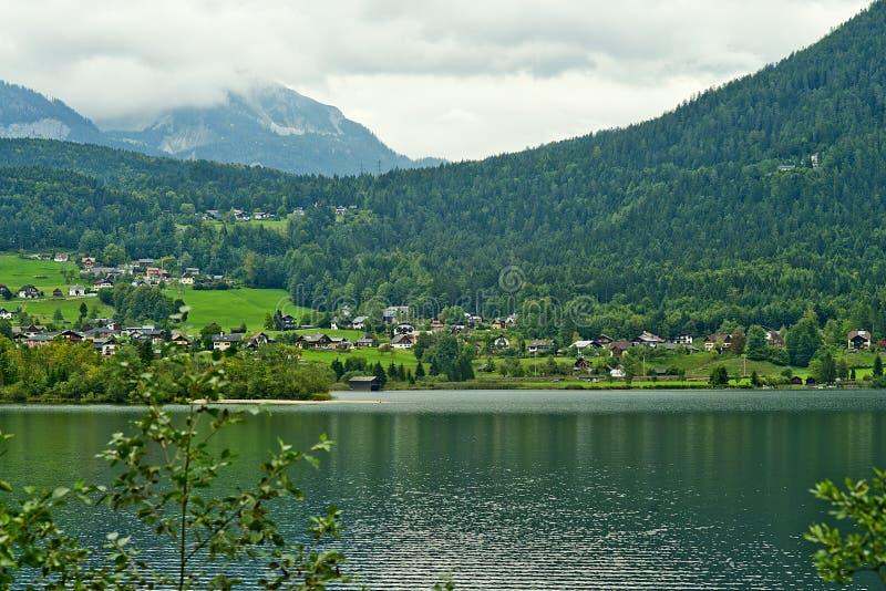 Lago Hallstatter, Austria fotografia stock