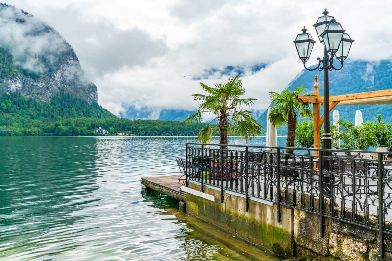 Lago Hallstatter em Hallstatt, Áustria imagem de stock
