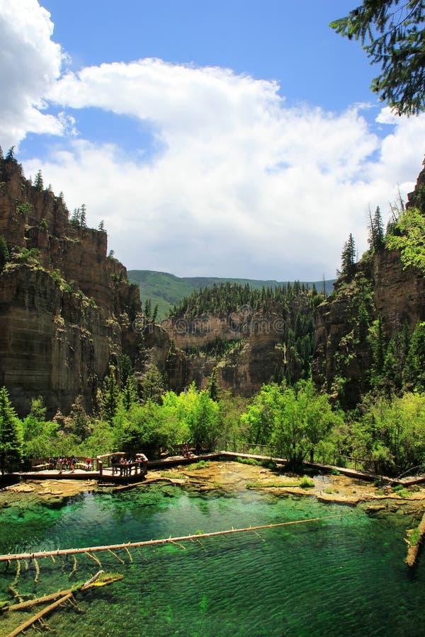 Lago hanging, barranco de Glenwood, Colorado imagen de archivo libre de regalías