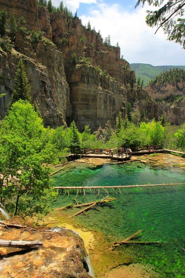 Lago hanging, barranco de Glenwood, Colorado imagenes de archivo