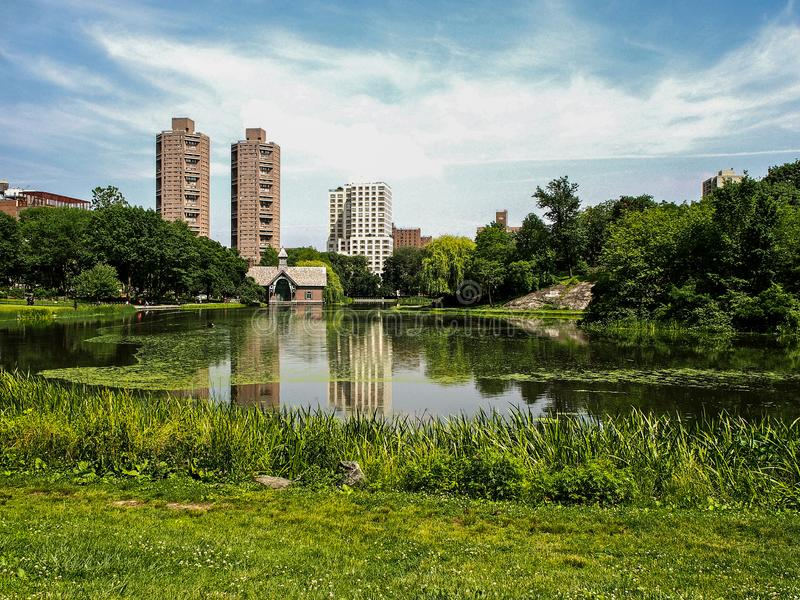 Lago harlem Meer in Central Park fotografia stock
