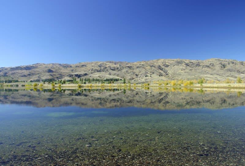 Lago Hawea, Nueva Zelandia imágenes de archivo libres de regalías