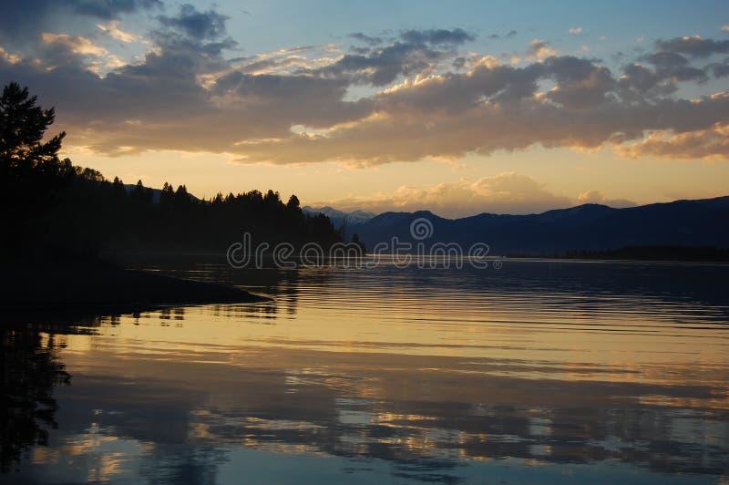 Lago Hebgen fotografia de stock
