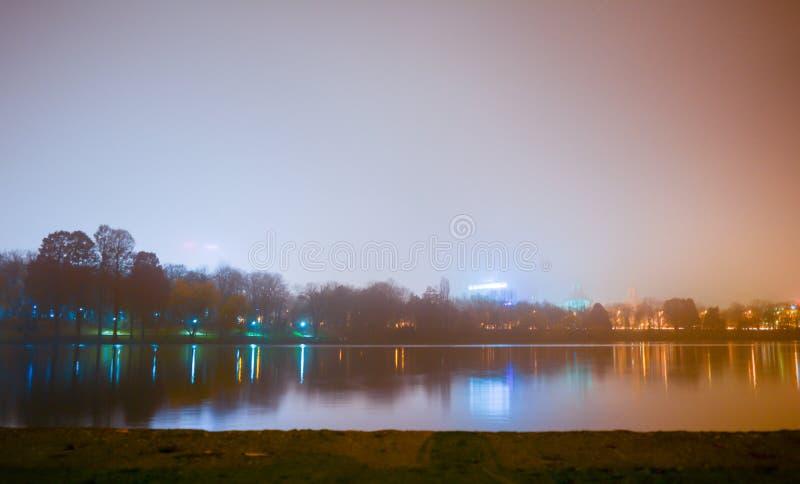 Lago Herastrau imagens de stock