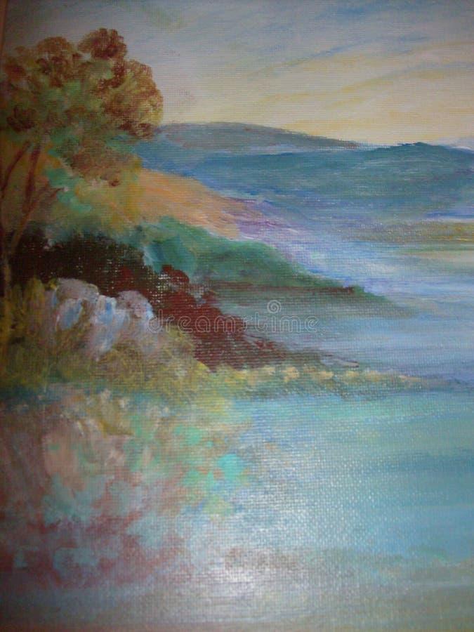 Lago hermoso Casitas libre illustration
