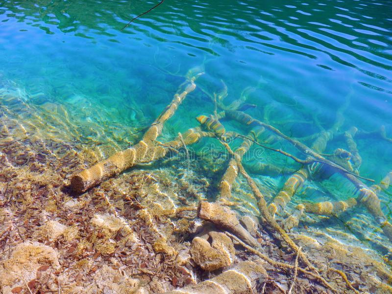 Lago hermoso del verde esmeralda fotos de archivo