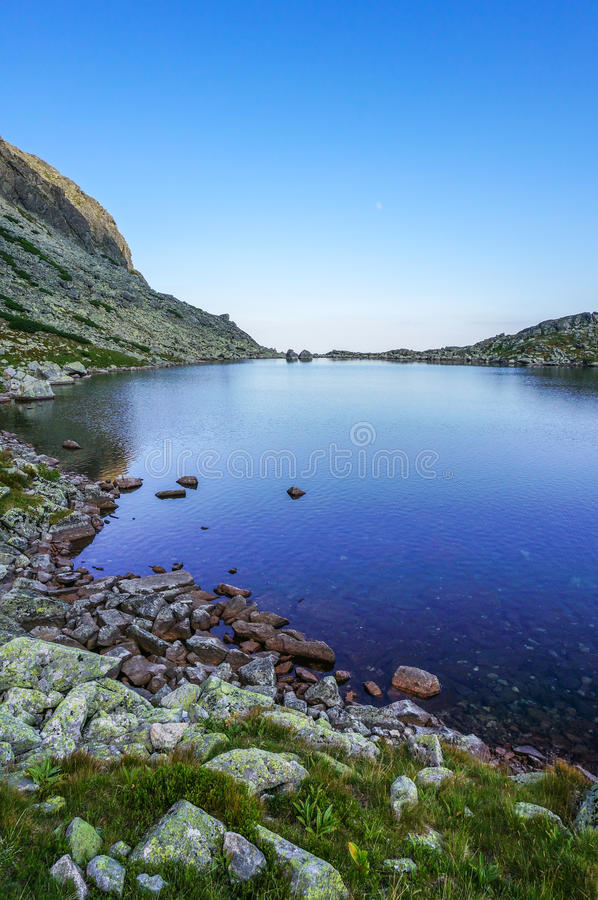 Lago hermoso en el parque nacional alto Tatra fotos de archivo libres de regalías