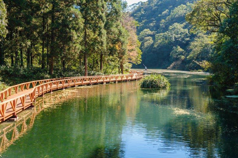 Lago hermoso en las montañas imagen de archivo