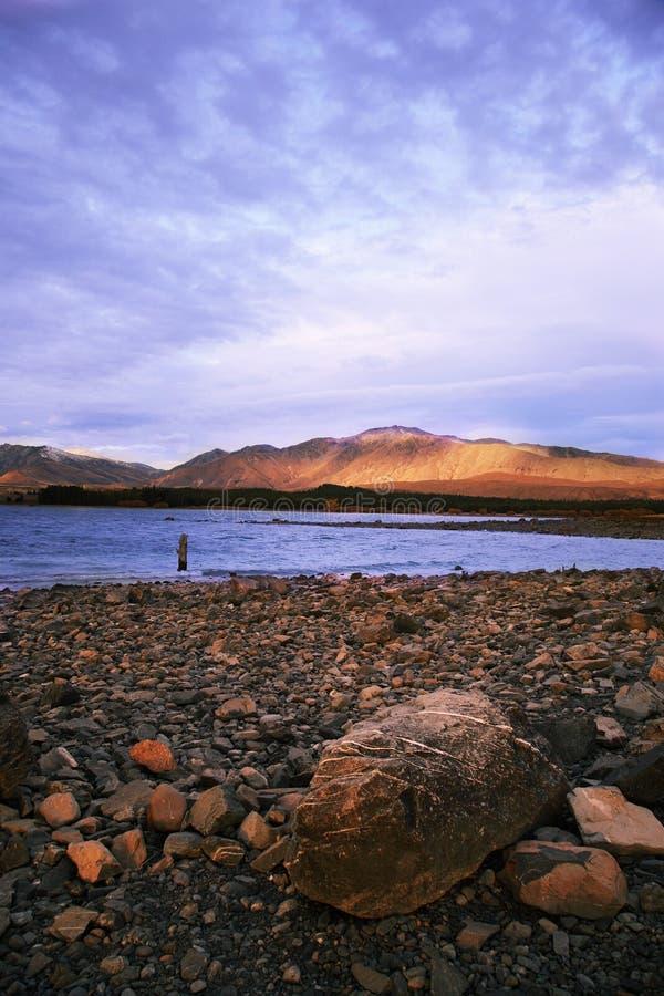 Lago hermoso Tekapo fotografía de archivo libre de regalías