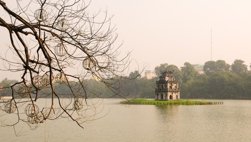 Lago Hoan Kiem, Hanoi fotografia stock