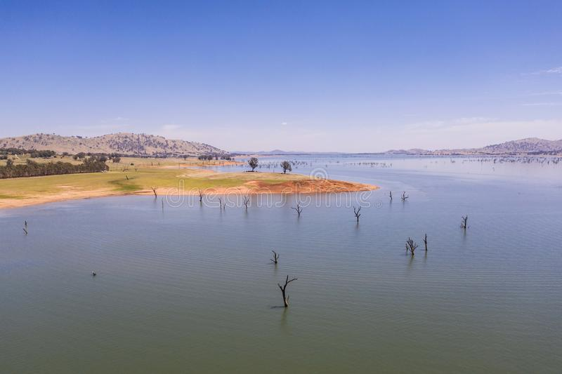 Lago Hume Australia fotografia stock libera da diritti