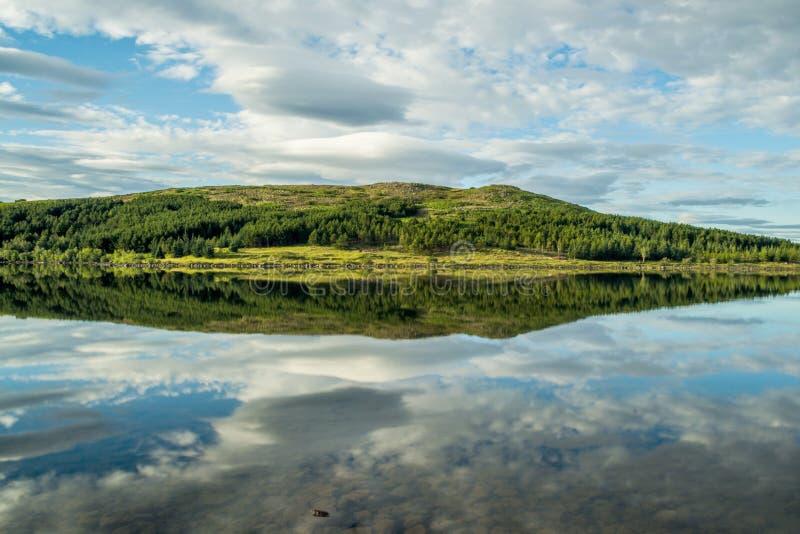 Lago Hvaleyri Islanda fotografia stock libera da diritti