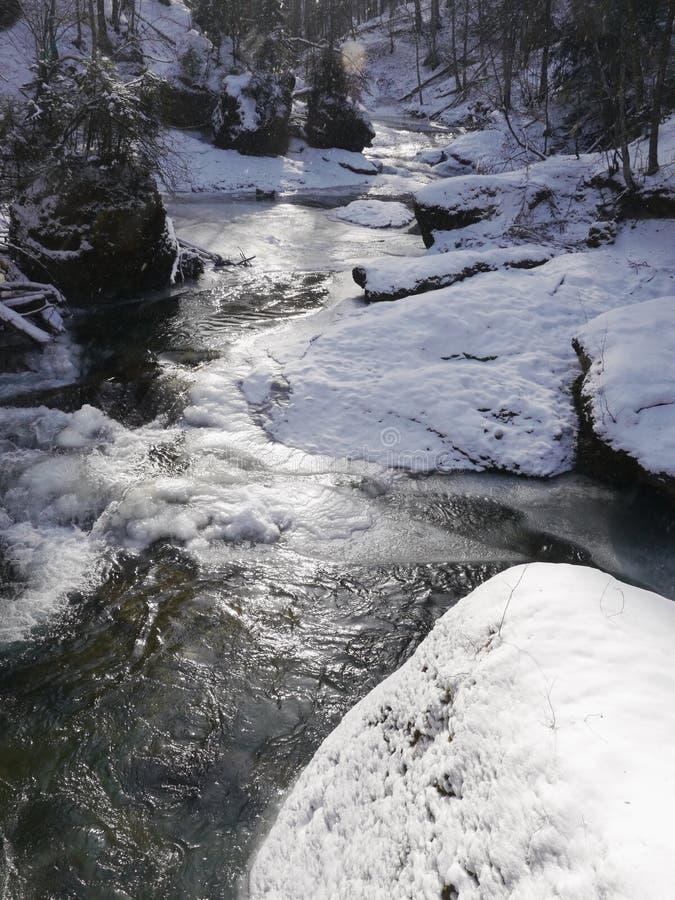 Lago ice immagini stock