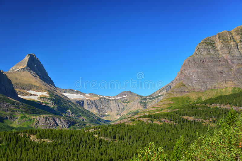 Lago iceberg, Glacier National Park fotografie stock