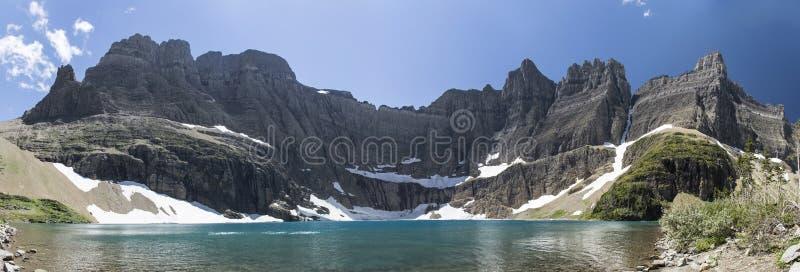 Lago iceberg panorâmico - parque nacional de geleira fotos de stock royalty free