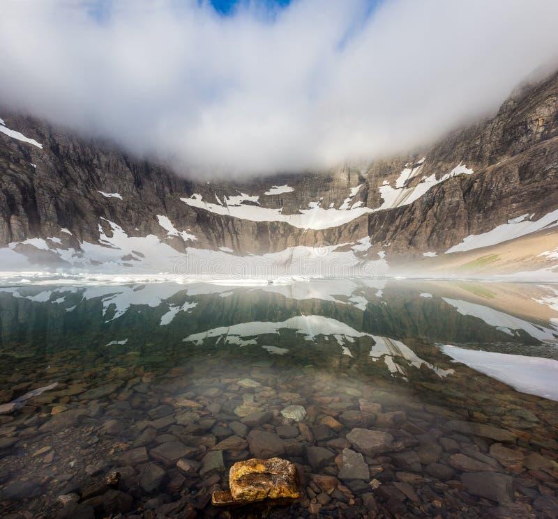 Lago iceberg, parque nacional de geleira foto de stock
