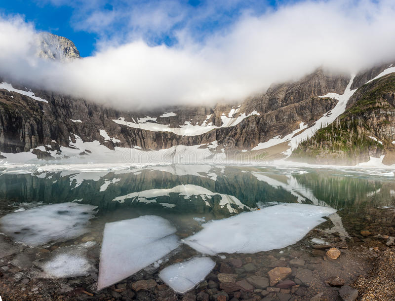 Lago iceberg, parque nacional de geleira imagem de stock royalty free